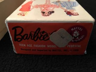 BARBIE - VINTAGE RARE 1959 BLONDE PONYTAIL - - NEVER PLAYED WITH 3