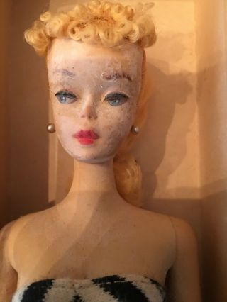 BARBIE - VINTAGE RARE 1959 BLONDE PONYTAIL - - NEVER PLAYED WITH 6