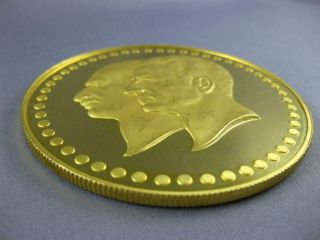 EXTRA LARGE 22KT YELLOW GOLD FIFTIETH ANNIVERSARY PAHLAVI MIDDLE EASTERN COIN 2