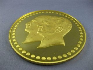 EXTRA LARGE 22KT YELLOW GOLD FIFTIETH ANNIVERSARY PAHLAVI MIDDLE EASTERN COIN 3