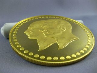 EXTRA LARGE 22KT YELLOW GOLD FIFTIETH ANNIVERSARY PAHLAVI MIDDLE EASTERN COIN 4