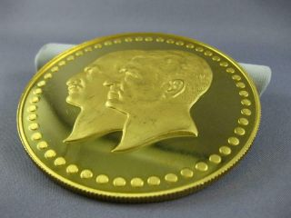 EXTRA LARGE 22KT YELLOW GOLD FIFTIETH ANNIVERSARY PAHLAVI MIDDLE EASTERN COIN 5