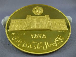 EXTRA LARGE 22KT YELLOW GOLD FIFTIETH ANNIVERSARY PAHLAVI MIDDLE EASTERN COIN 8