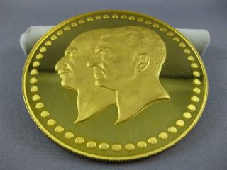 EXTRA LARGE 22KT YELLOW GOLD FIFTIETH ANNIVERSARY PAHLAVI MIDDLE EASTERN COIN 9