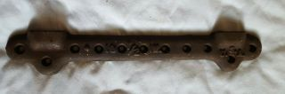 """Antique Vintage 10 - 1/2 In Cast Iron Sink Mounting Bracket 11 Holes 15 """" Usa"""