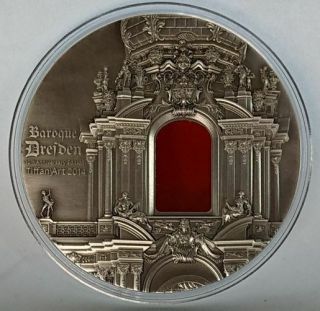 Palau 2014 $10 Tiffany Art - Baroque Dresden Antique Finish Silver Coin