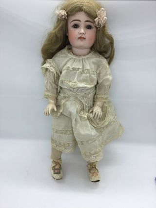 "Antique Germany Bisque Head Doll Composition Body Jointed 20 "" Fully Dressed"