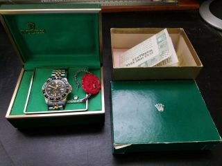 Rolex Vintage Gmt Master Ref 1675/3 With Jubilee Bracelet 14kt And Steel