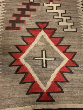 Antique 1800's Native American Navajo Hand Knit Rug 2