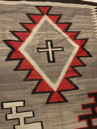 Antique 1800's Native American Navajo Hand Knit Rug 3