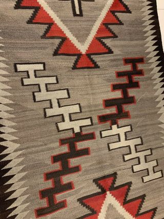 Antique 1800's Native American Navajo Hand Knit Rug 4