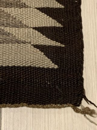 Antique 1800's Native American Navajo Hand Knit Rug 5