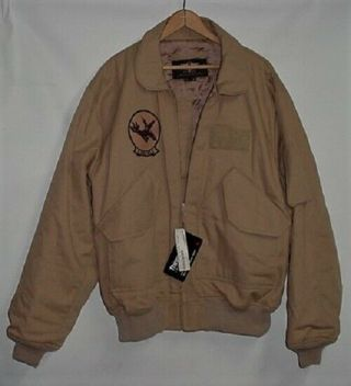 Gibson & Barnes Cwu - 45 Type Tan Flight Jacket - Large