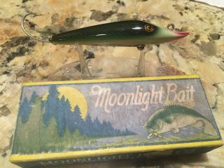 Vintage Moonlight 1 Hook Pikearoon Fishing Lure Antique Tackle Box Bait Rare Box