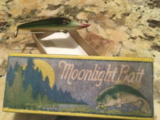 Vintage Moonlight 1 Hook Pikearoon Fishing Lure Antique Tackle Box Bait RARE BOX 8