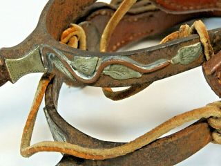 RARE Vintage Antique Western Spurs from Ranch Located in Kansas Founded in 1888 10