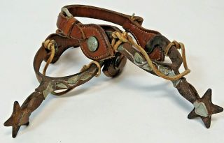 RARE Vintage Antique Western Spurs from Ranch Located in Kansas Founded in 1888 12