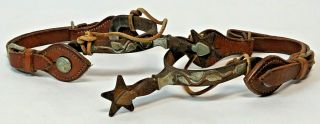 RARE Vintage Antique Western Spurs from Ranch Located in Kansas Founded in 1888 2