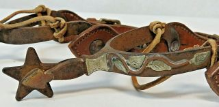 RARE Vintage Antique Western Spurs from Ranch Located in Kansas Founded in 1888 4