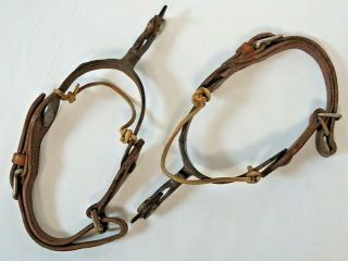 RARE Vintage Antique Western Spurs from Ranch Located in Kansas Founded in 1888 7