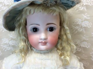 "Antique 22"" Sonneberg For French Market Bisque Doll 10"