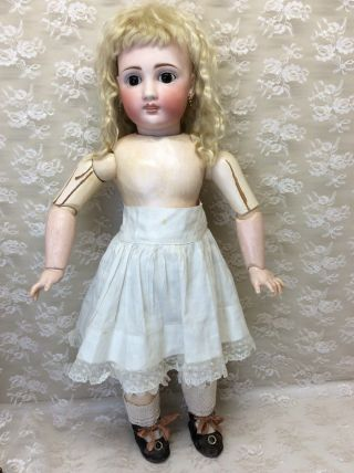 "Antique 22"" Sonneberg For French Market Bisque Doll 11"