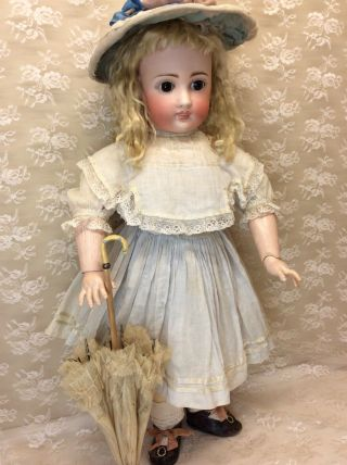 "Antique 22"" Sonneberg For French Market Bisque Doll 12"