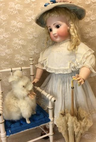 "Antique 22"" Sonneberg For French Market Bisque Doll 2"