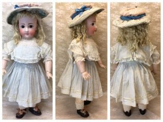 "Antique 22"" Sonneberg For French Market Bisque Doll 3"