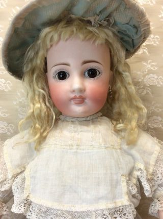 "Antique 22"" Sonneberg For French Market Bisque Doll 5"