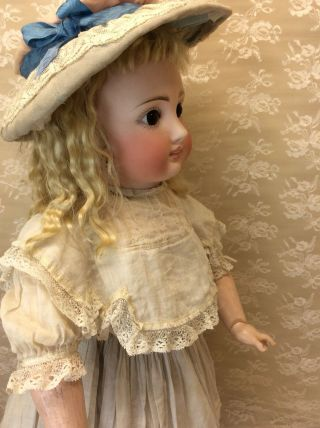 "Antique 22"" Sonneberg For French Market Bisque Doll 6"