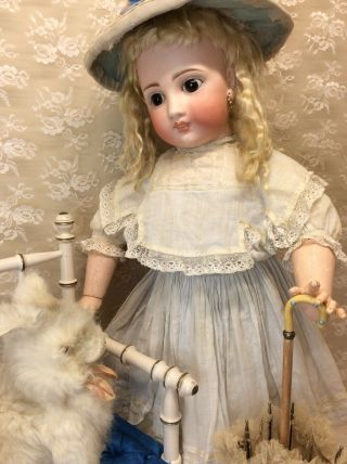 "Antique 22"" Sonneberg For French Market Bisque Doll 7"