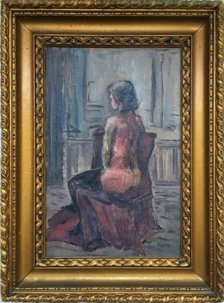 Degas Signed Antique Oil / Canvas Painting French?
