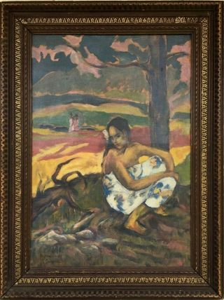 Pastorales 1893 P Gauguin Signed Antique Oil / Canvas Painting French?