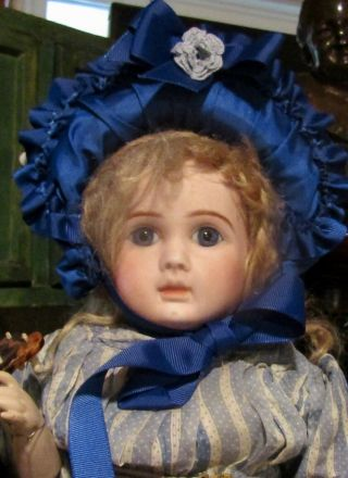 """21 """" Antique Doll French Bisque Bebe By Steiner With Body"""