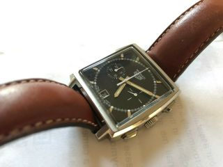 Vintage Heuer Monaco Classics Re - Issue Boxed With Papers - Tan Strap Cs2110 Tag