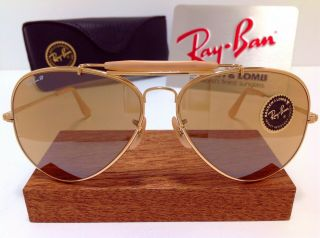 Old Stock B&l Ray Ban Usa General 50th Aviator Vintage Bausch & Lomb