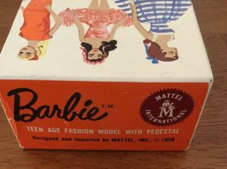 1960 3 BRUNETTE PONYTAIL BARBIE BOXED w SWIMWEAR & ACCESSORIES 11