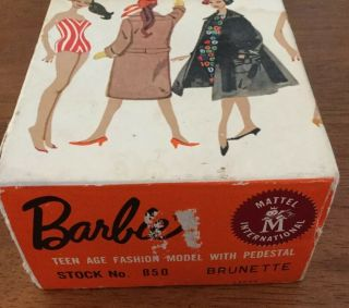 1960 3 BRUNETTE PONYTAIL BARBIE BOXED w SWIMWEAR & ACCESSORIES 12