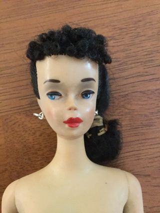 1960 3 BRUNETTE PONYTAIL BARBIE BOXED w SWIMWEAR & ACCESSORIES 3
