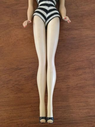 1960 3 BRUNETTE PONYTAIL BARBIE BOXED w SWIMWEAR & ACCESSORIES 6