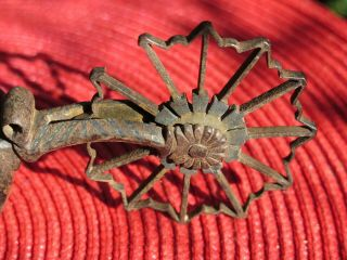 ANTIQUE HQ MEXICAN SPURS SILVER THREAD EMBROIDERY STRAPS LEATHERS,  SILVERI NLAID 12