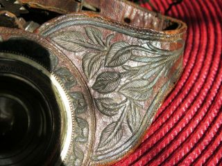 ANTIQUE HQ MEXICAN SPURS SILVER THREAD EMBROIDERY STRAPS LEATHERS,  SILVERI NLAID 5