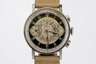 Vintage Omega Chronograph Steel Watch Cal 33.  3 Ref 2393/2 38mm Circa 1940s