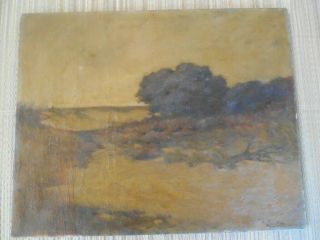 Antique 19c Oil On Canvas Landscape Painting Signed A Jouhin 20 X 16