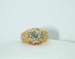 $18,  000 Circa 1895 Diamond Old - Mine 2.  00ct Solitaire Unisex 18k Ring - $99