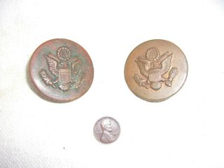 Ww1 Us Cavalry M1909 Copper Bridle Rosettes - - Matched Pair - -