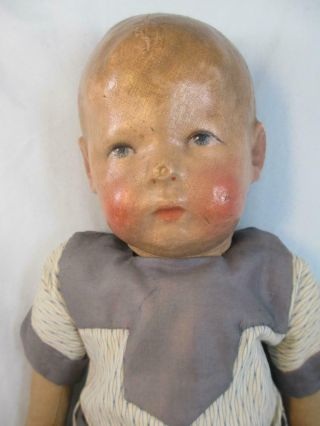 "Antique Kathe Kruse Doll Slant Wide Hip 1st Model 16 "" Toddler"