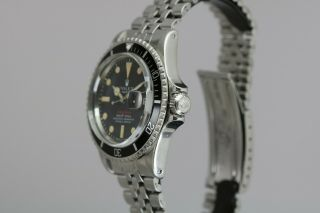 "Rolex Submariner 1680 ""Red Sub"" Vintage Automatic Dive Watch Circa 1970s 11"