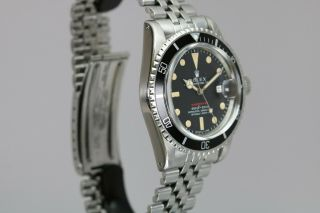 "Rolex Submariner 1680 ""Red Sub"" Vintage Automatic Dive Watch Circa 1970s 12"